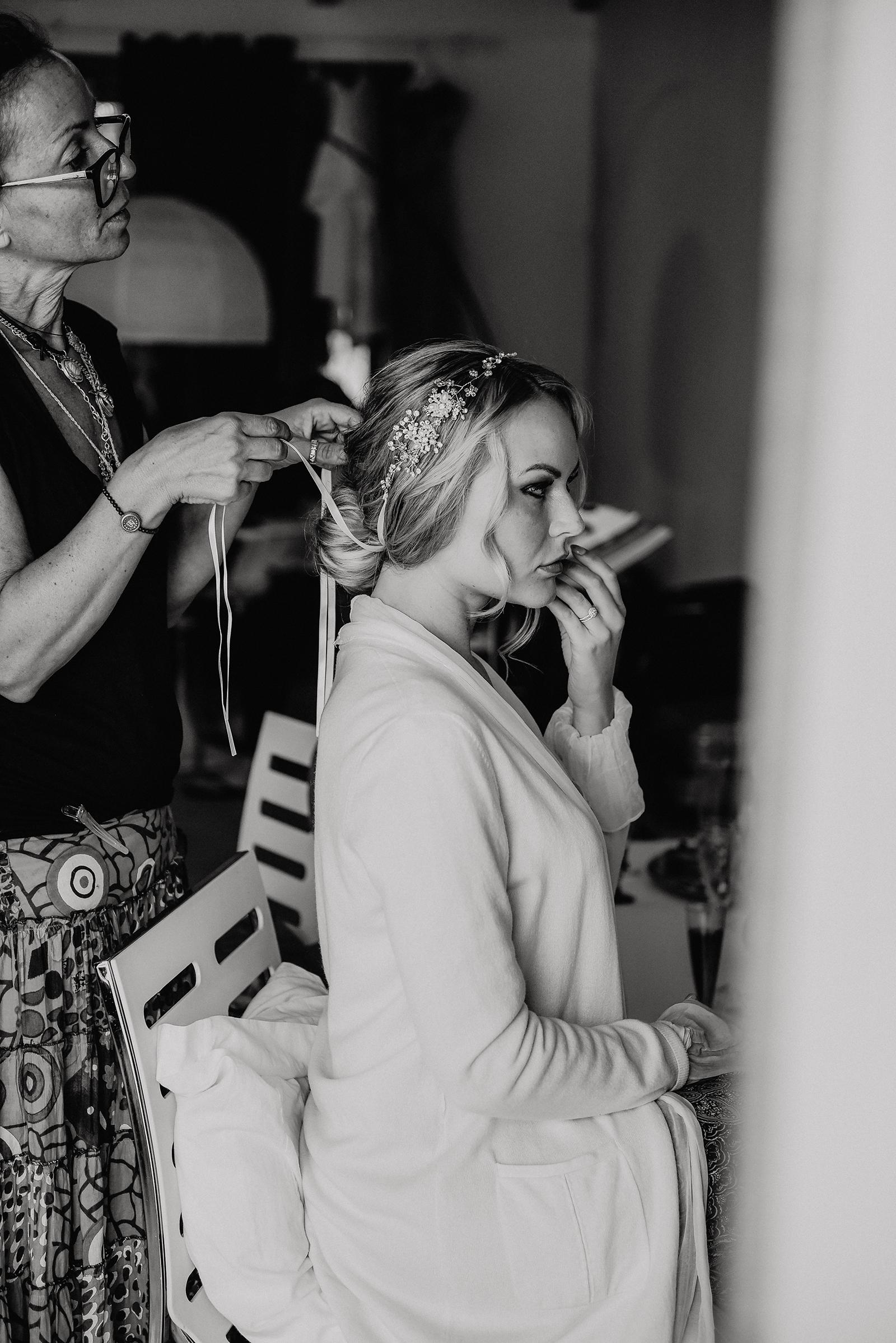 Das Brautsyling beim Getting Ready