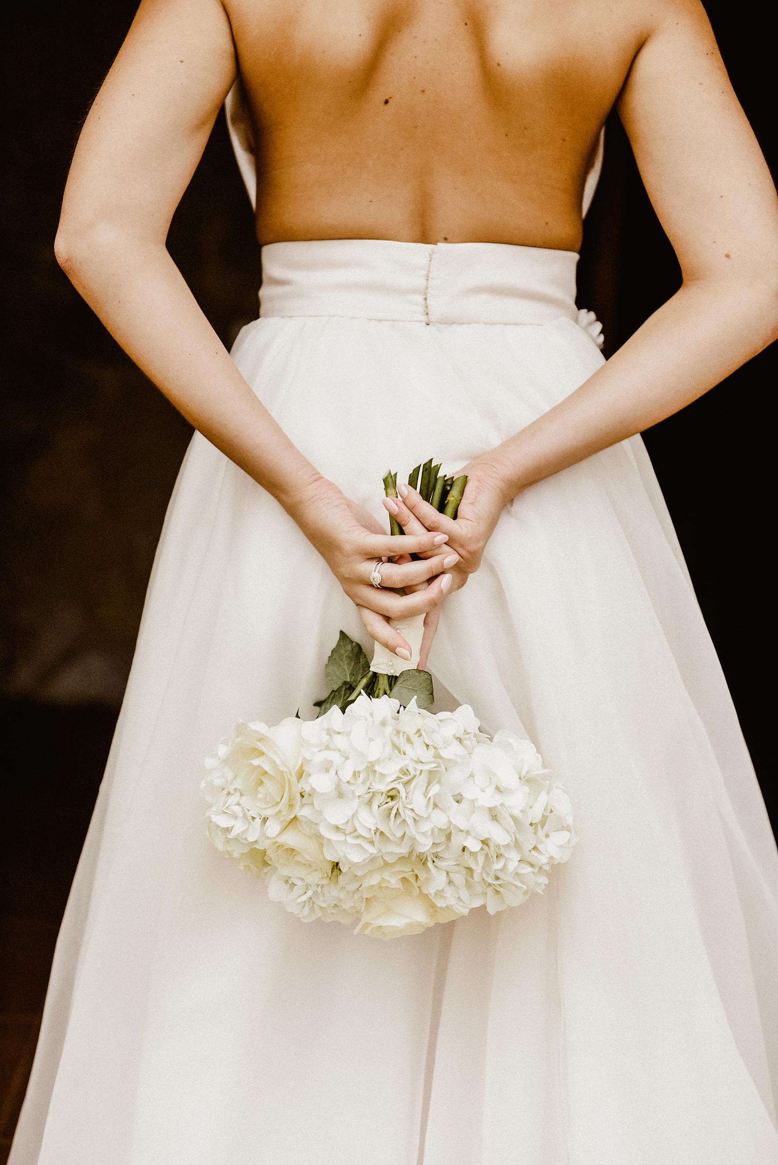 Wunderschöner Brautstrauss aufgenommen beim Getting Ready auf Mallorca