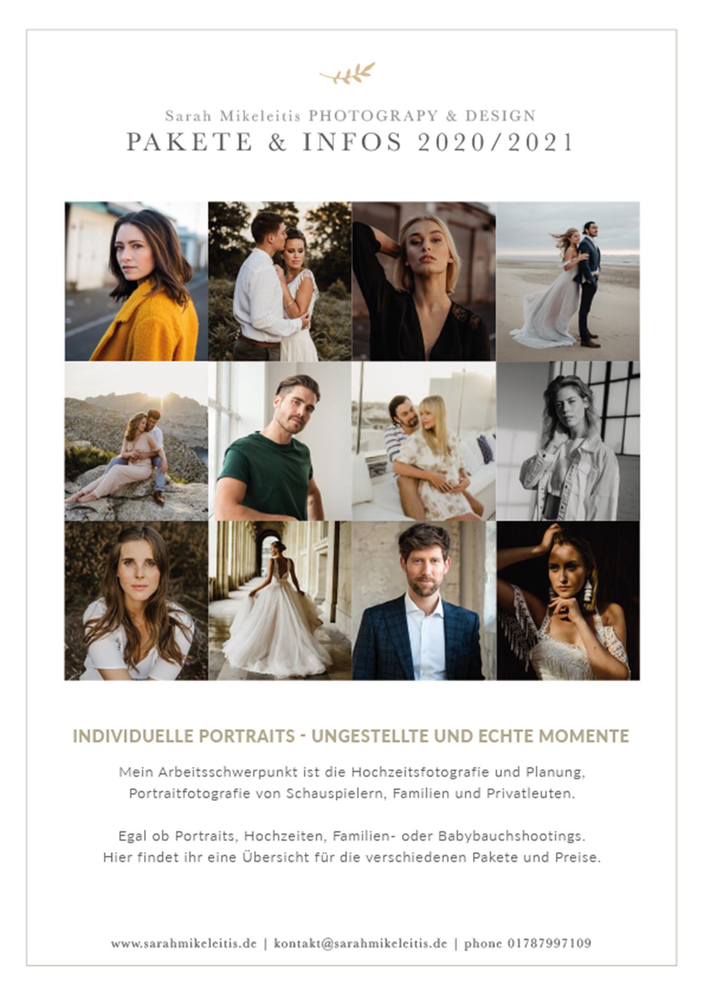 Preisliste für Portraitshootings